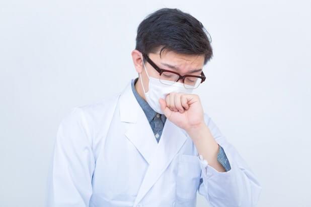 ドクターの不養生(咳をする)