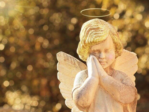 黄金の光を浴びて、天使の祈り