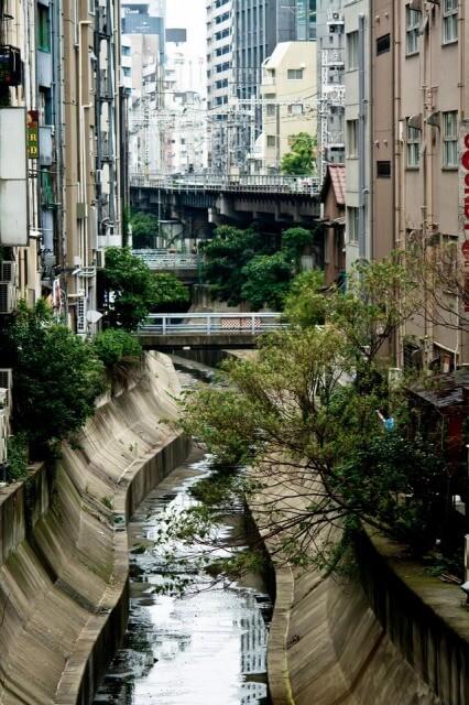 渋谷川と街並み