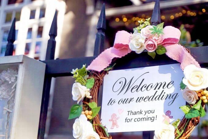 結婚式 ウェルカムリース