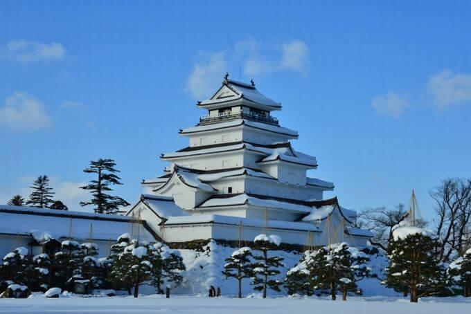 冬の鶴ヶ城