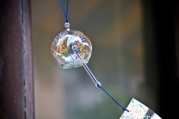 ガラスの丸い風鈴
