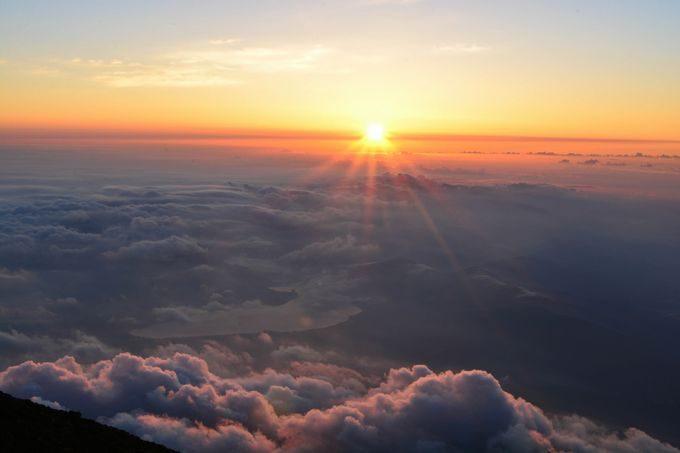 富士山頂の御来光